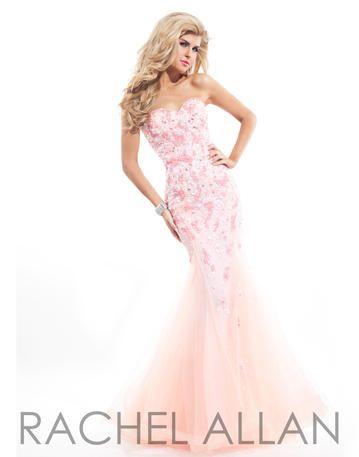 Rachel ALLAN Prom - 6828 Sweetheart Strapless mermaid with heavy ...