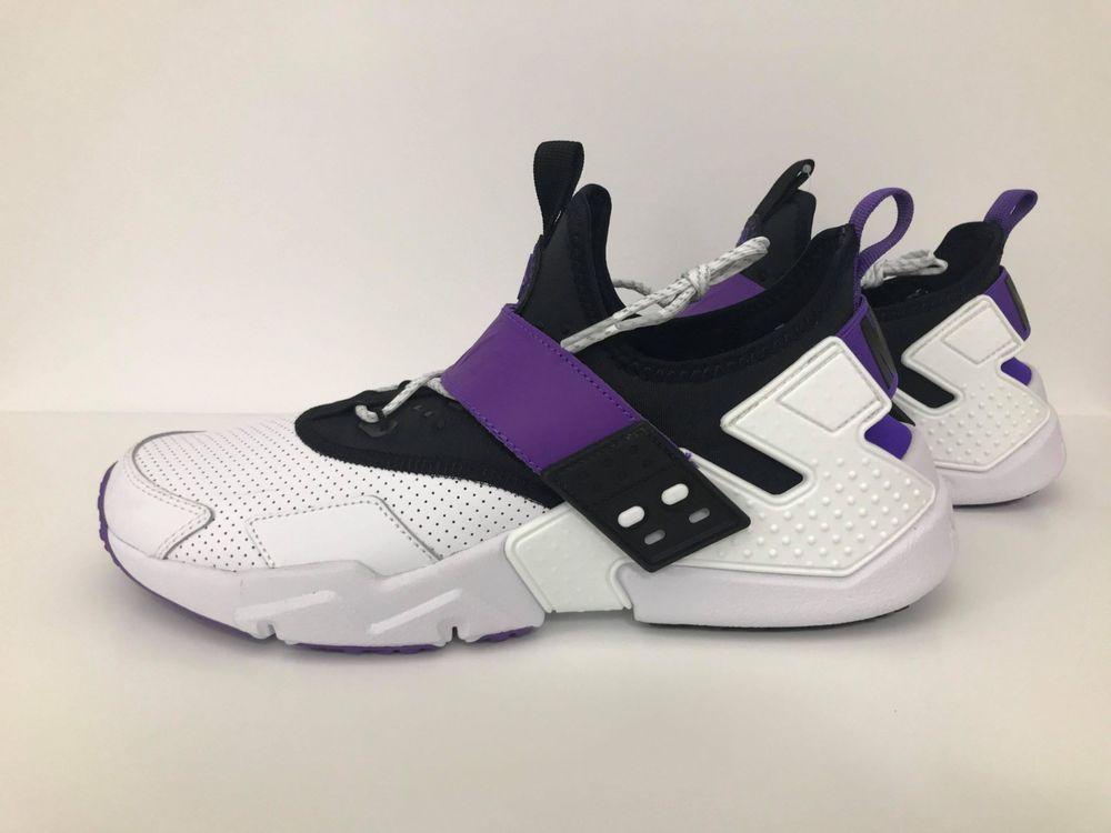 aae372ec1229 NIKE AIR HUARACHE DRIFT PREMIUM - MEN S SIZE 10.5 - WHITE PURPLE BLACK   fashion  clothing  shoes  accessories  mensshoes  athleticshoes (ebay link)