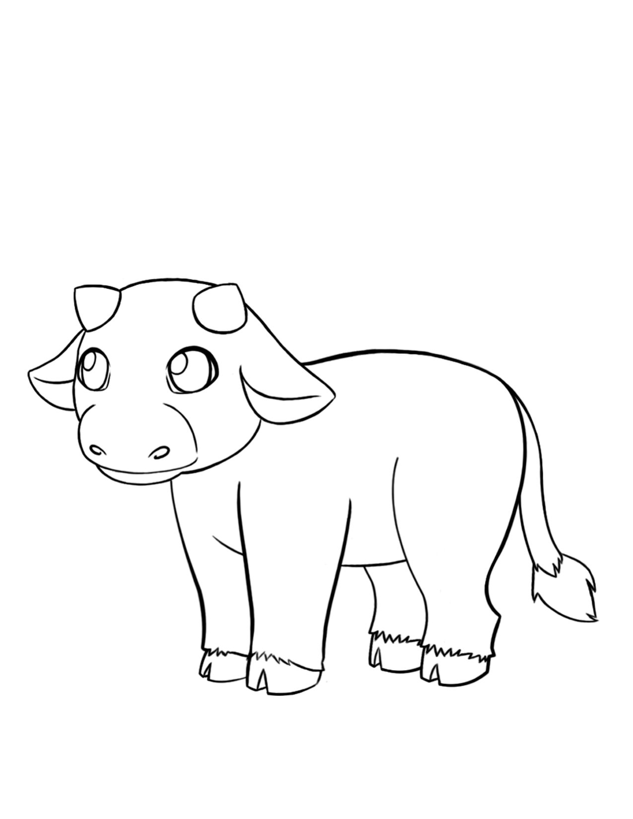 awesome baby cow coloring pages special picture