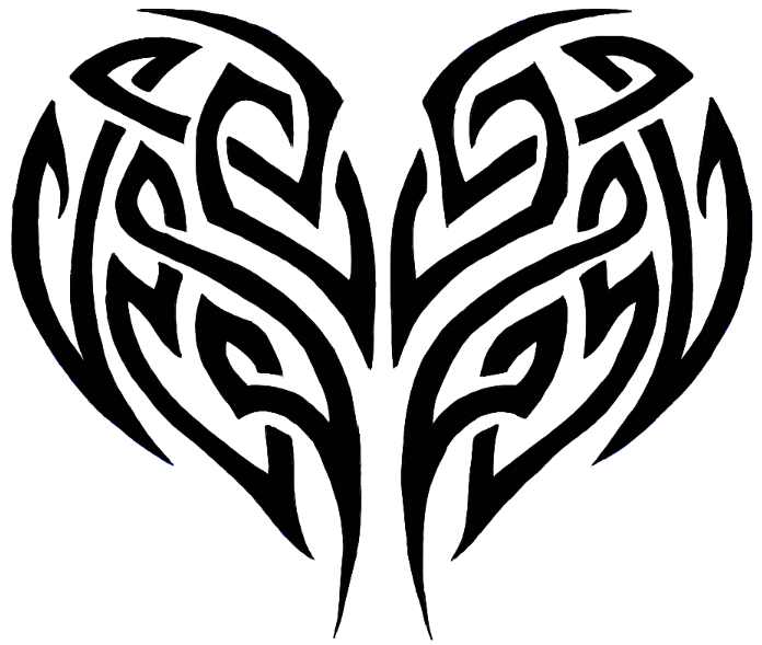 Cool Heart Designs To Draw Easy Tribal Heart Tribal Tattoos Tribal Lion Tattoo