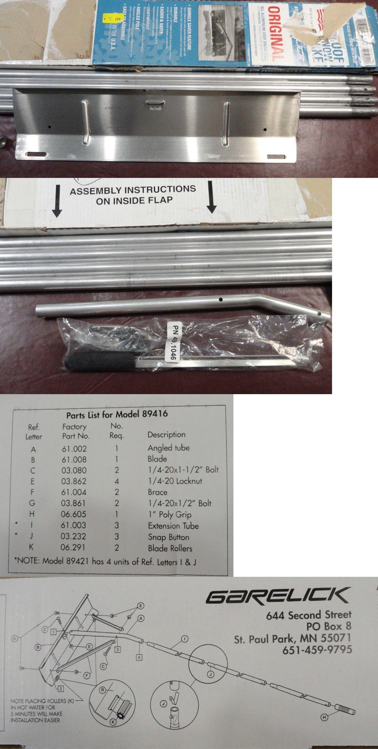Garelick 21 Foot Aluminum Snow Roof Rake 24 X 7 Inch Blade Never Used Blade Rakes Aluminum