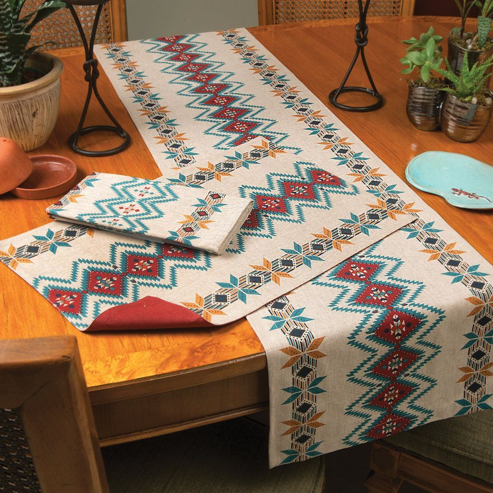 Bright Skies Southwest Table Linens Black Forest Decor Western