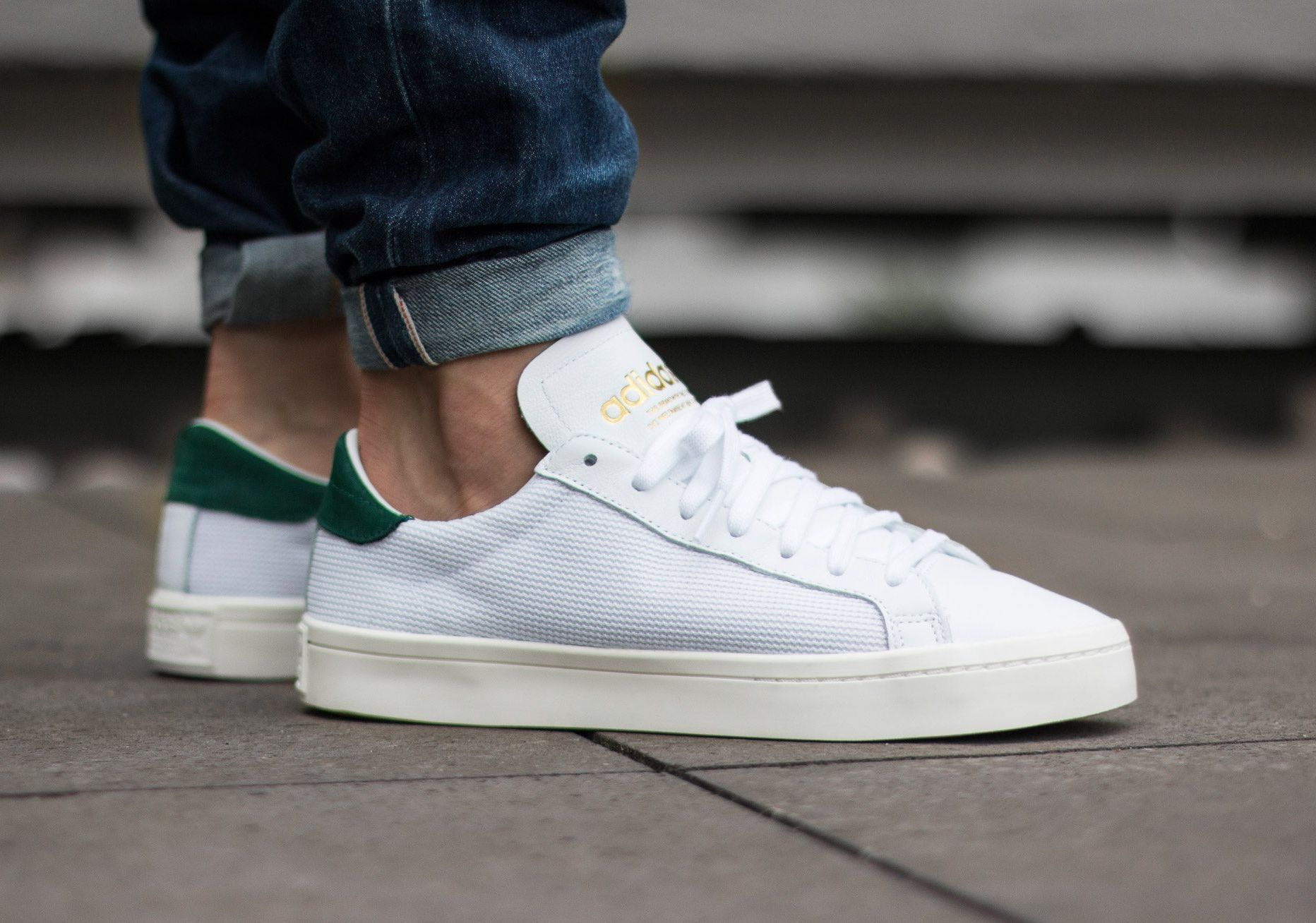 Adidas Court Vantage Vintage White Gold Green | Chaussure