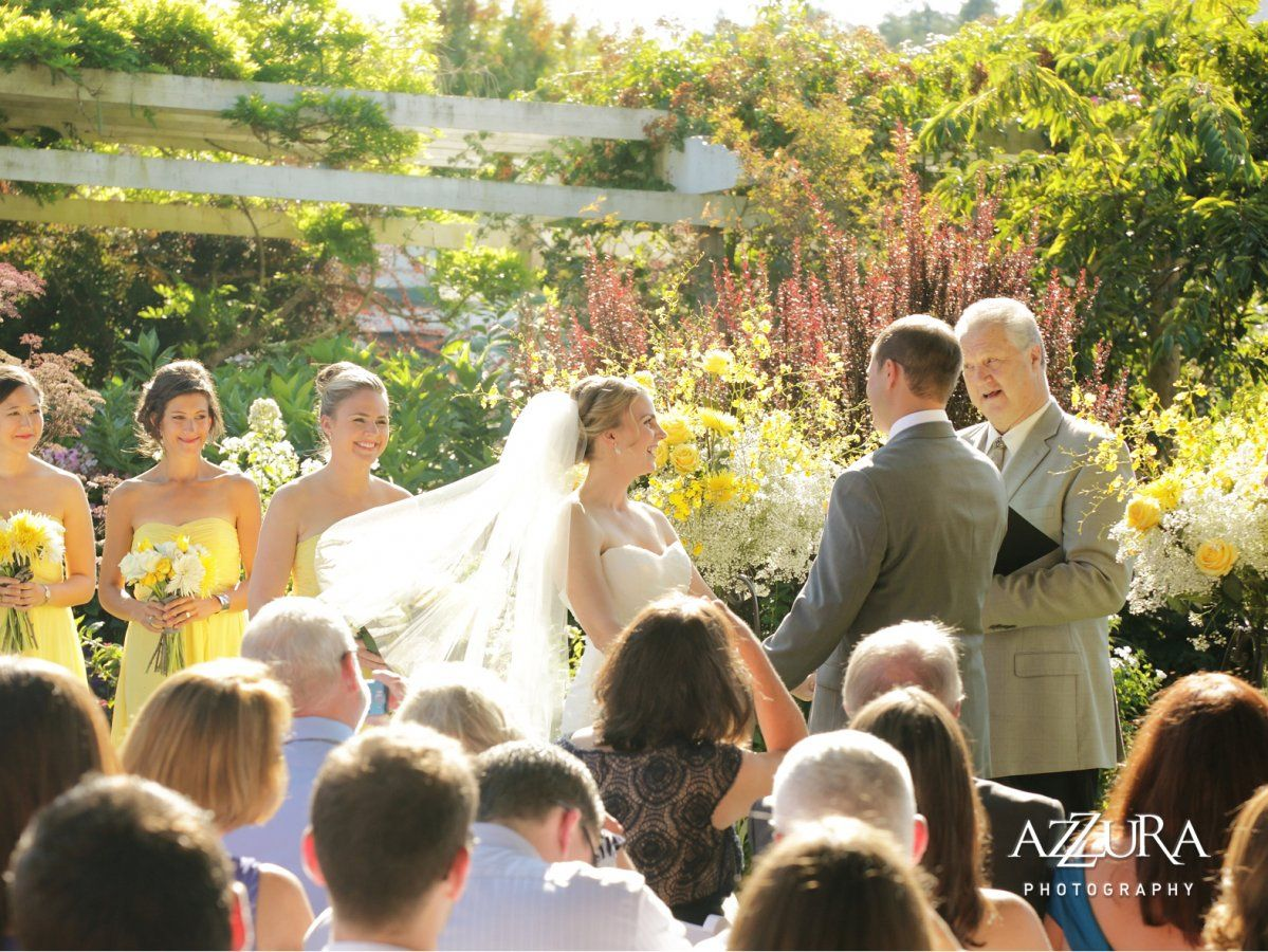 Roche Harbor Weddings // Vow exchange at the base of the