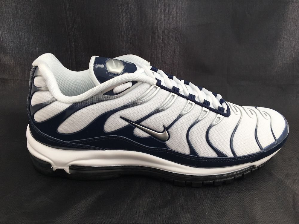 newest 63c47 5182c Nike Air Max 97 Plus AH8144 100 White/Midnight Navy/Metallic Silver Size 13  #fashion #clothing #shoes #accessories #mensshoes #athleticshoes (ebay link)