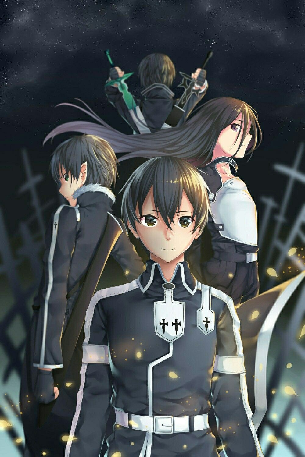 Kirito Is My Favourite Actor And My Fan Kirito Is My Hero In Sword Art Online Alicization Arte De Anime Personajes De Anime Dibujos De Anime