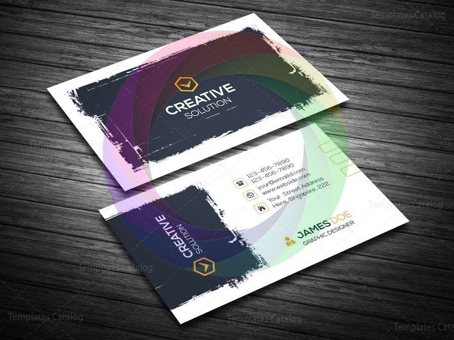 Creative Retro Business Card Template Graphic Yard Graphic Templates Store Retro Business Card Business Card Template Business Card Template Design
