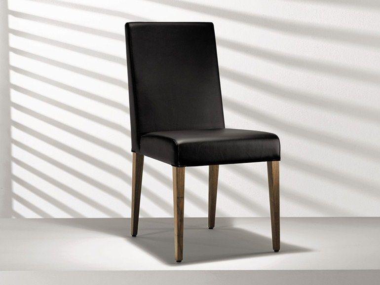 stuhl aus leder mit hoher r ckenlehne d4 1 kollektion st hle by h lsta werke h ls haus am see. Black Bedroom Furniture Sets. Home Design Ideas