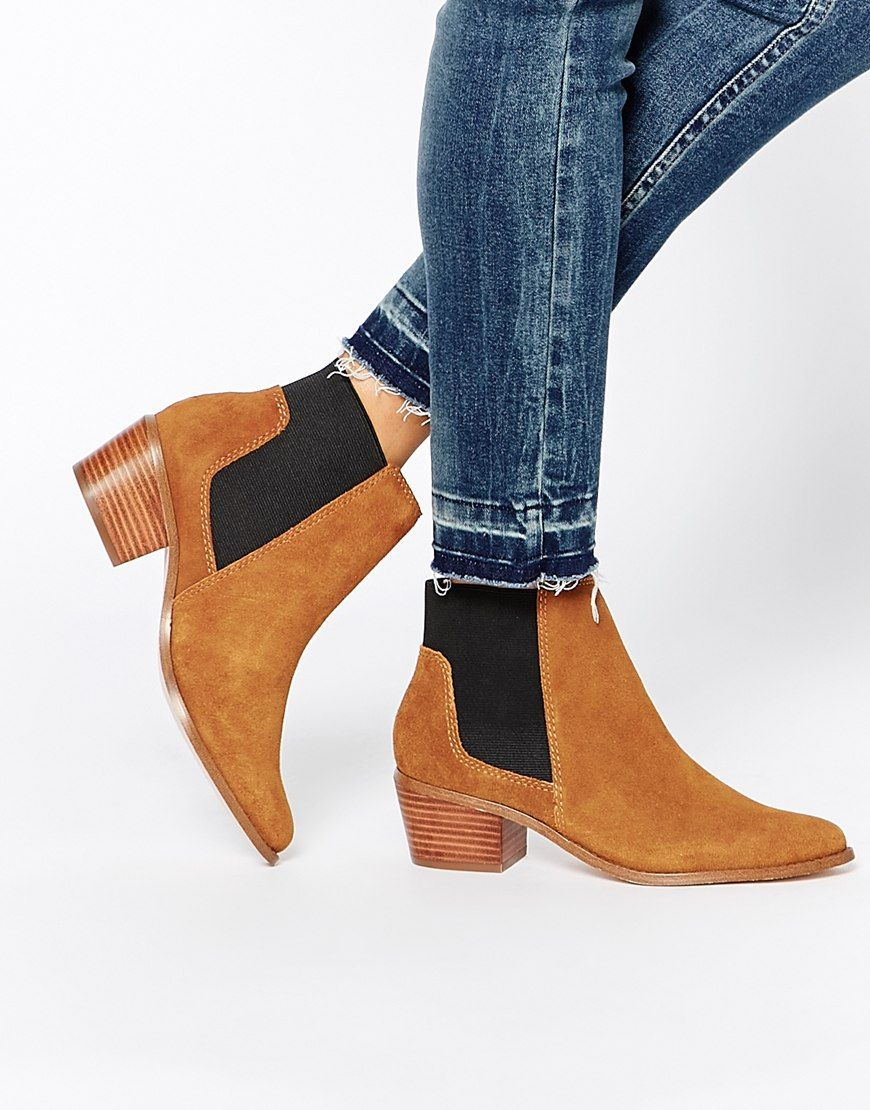 Buy Women Shoes / Miss Kg Spider Tan Suede Chelsea Boots