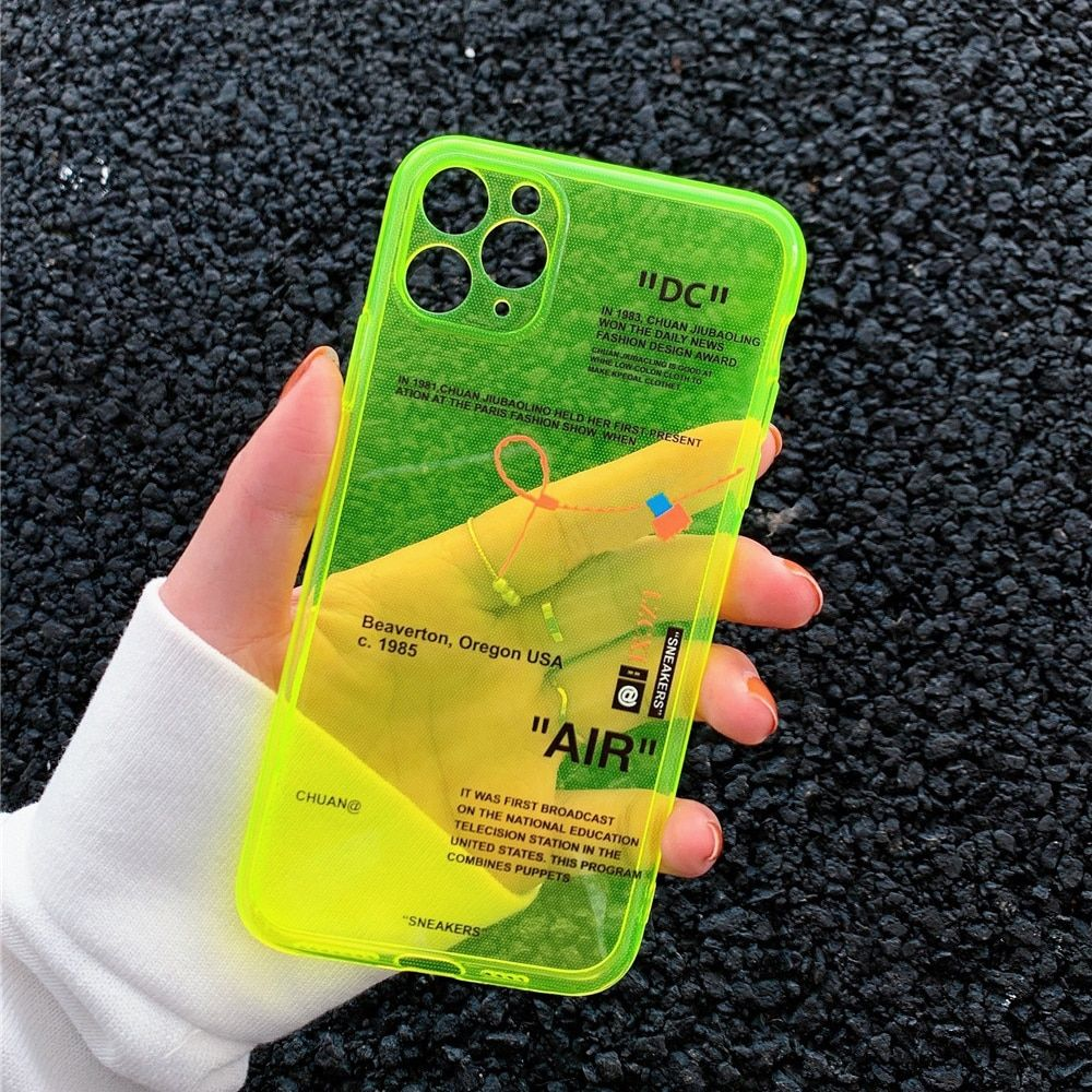 Ins fluorescence sport brand white label phone case for
