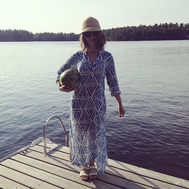 I carried a watermelon on a boat and onto the first dock of my summer. by ranisheen