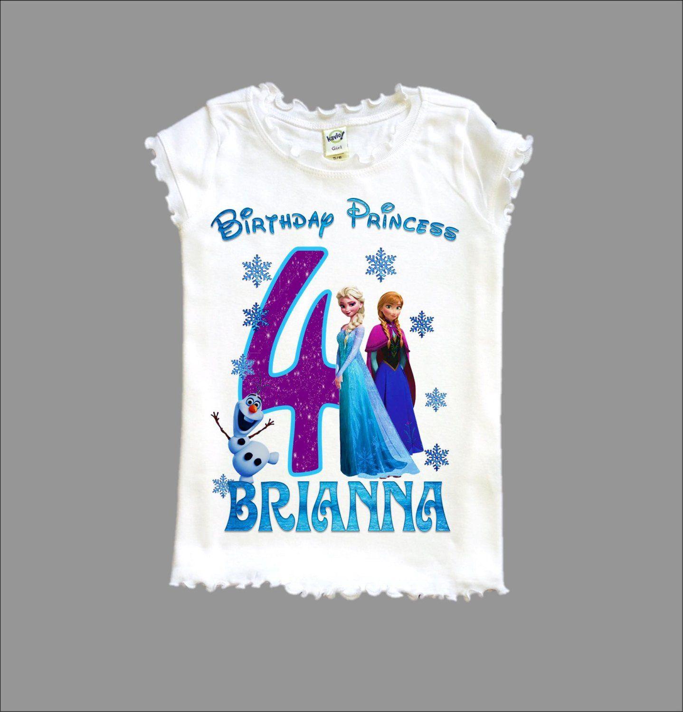 Disney Birthday Outfit Birthday Shirt Birthday Photos Olaf Birthday Shirt Frozen Birthday Party Girls Birthday Cake Smash Outfit