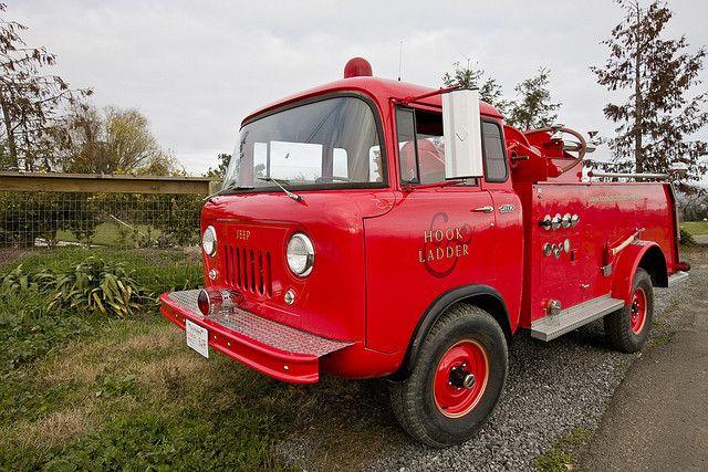 Old Fire Truck | Willys Fire Apparatus | Fire trucks, Fire