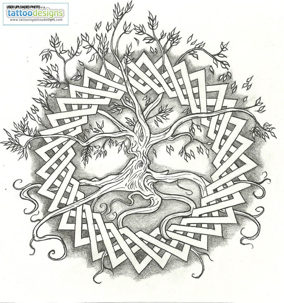 Higher Resolution Celtic Tree Of Life By Vizualassassin