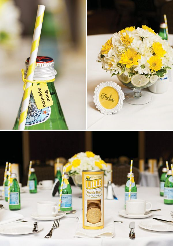 lemon tuscany inspired breakfast bridal shower