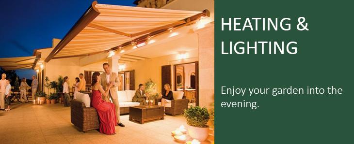 Heating Lighting Garden Awning Pinterest Wall Mount Patios