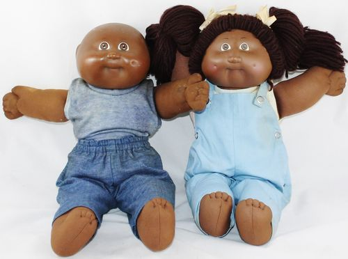 Black African American 1982 Xavier Roberts Cabbage Patch Kids Doll Girl Boy Twin Ebay Cabbage Patch Kids Dolls Black Cabbage Patch Doll Patch Kids