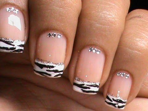 French Manicure Nail Art Designs Zebra - Dresslink Reiew + How To ...