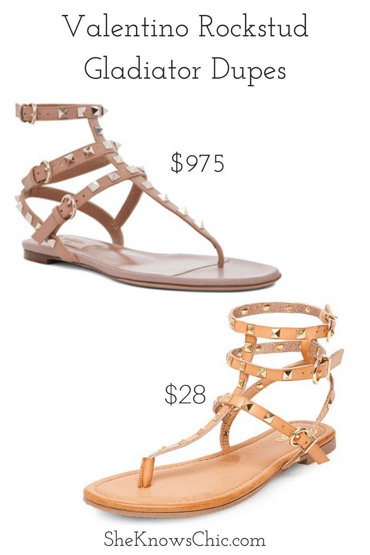 df034dcbb This post is about a great dupe for the Valentino Rockstud gladiator sandal!  Looking good