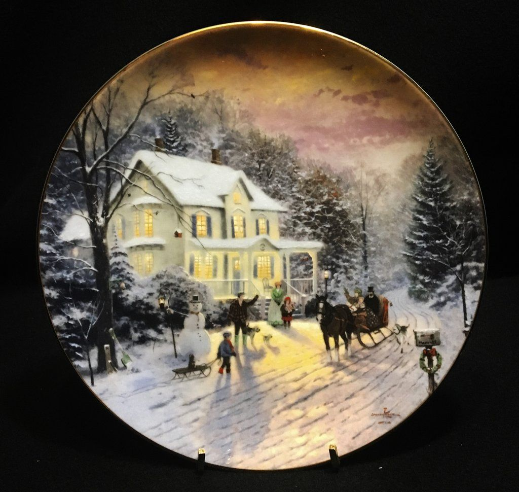 Knowles A Sleigh Ride Home by Thomas Kinkade Premiere Issue 1991