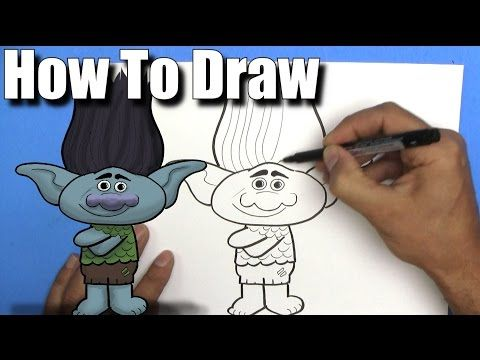 how to draw trolls characters