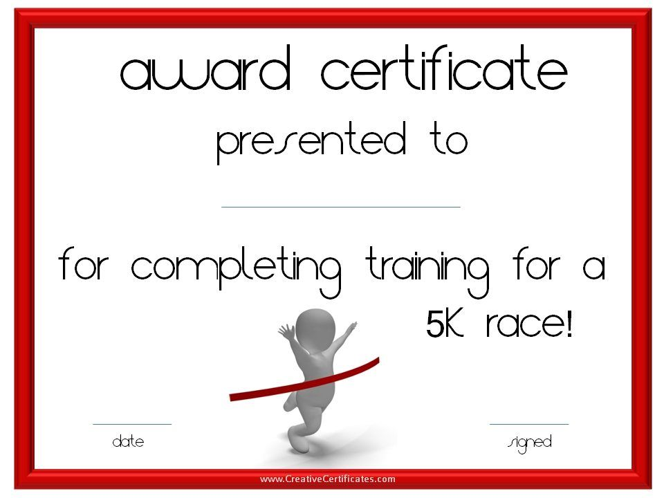Running certificate templates free customizable to award running certificate templates free customizable to award athletes for participating in race events or for yadclub Choice Image