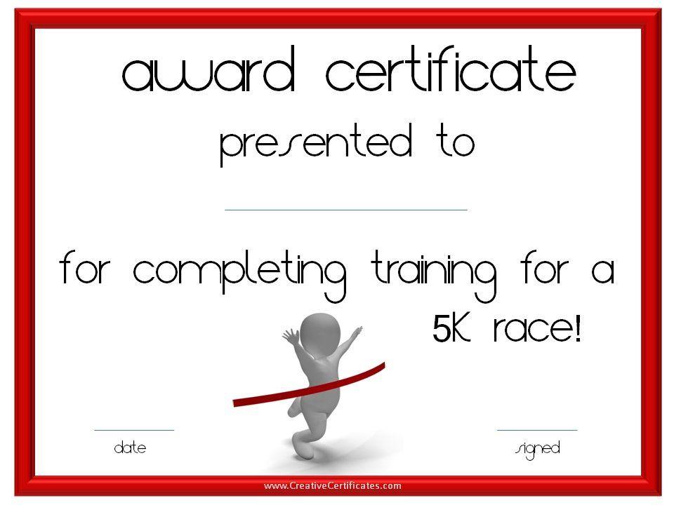Running certificate templates free \ customizable to award - free training certificates