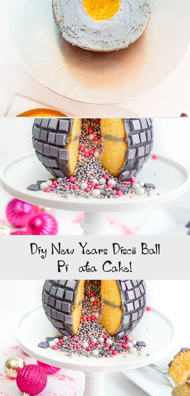 Photo of DIY Silvester Disco Ball Piñata Kuchen! #PinataKuchenBirthday #PinataKuchenRege…