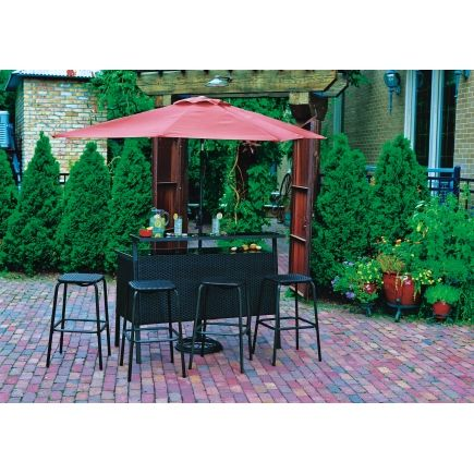 Living Accents Catalina 6 Piece Bar Set with Umbrella - All Patio  Collections - Ace Hardware - Living Accents Catalina 6 Piece Bar Set With Umbrella - All Patio