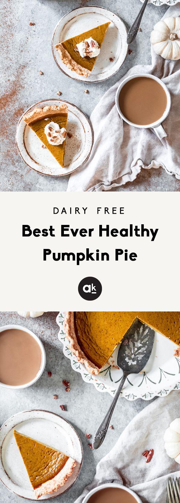 Best Ever Healthy Pumpkin Pie | Ambitious Kitchen