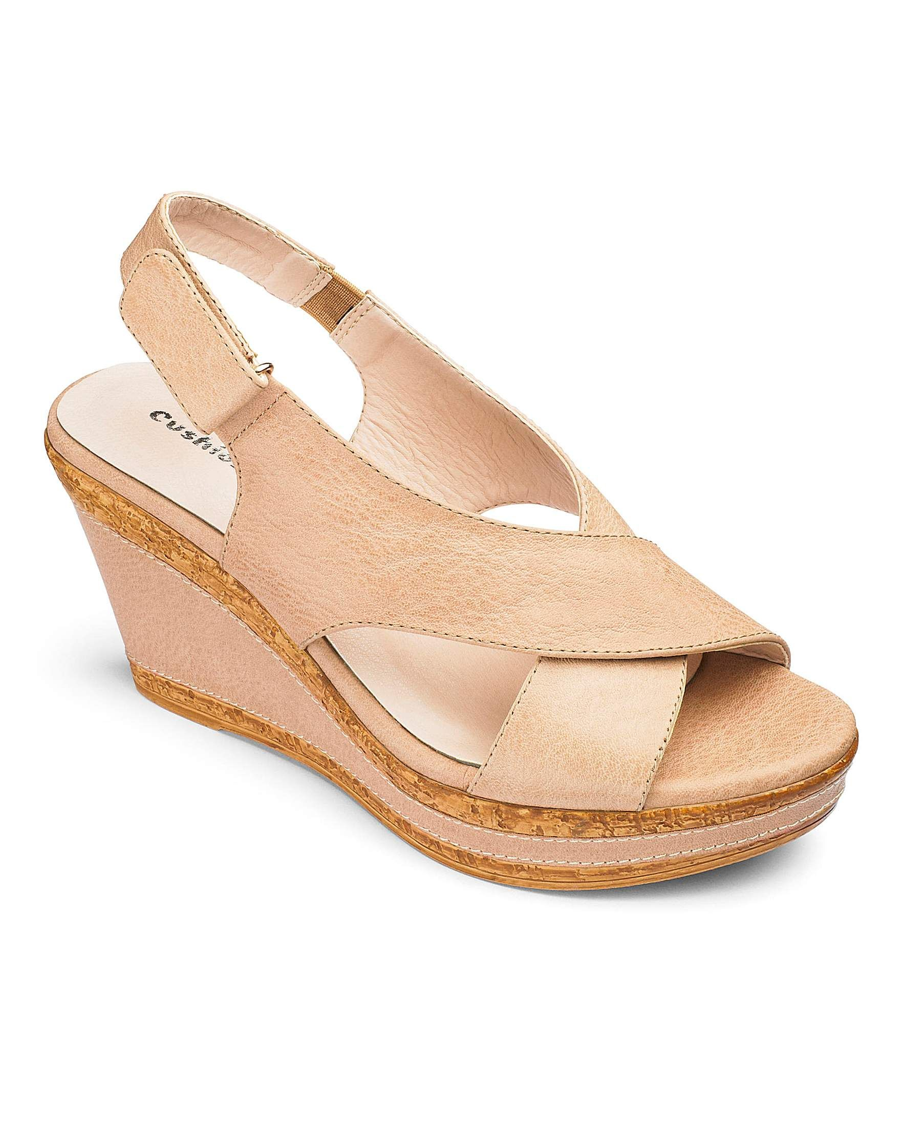 33842eadfdc Cushion Walk Wedge Sandals E Fit | Simply Be | Fashion Steps: Shoes ...