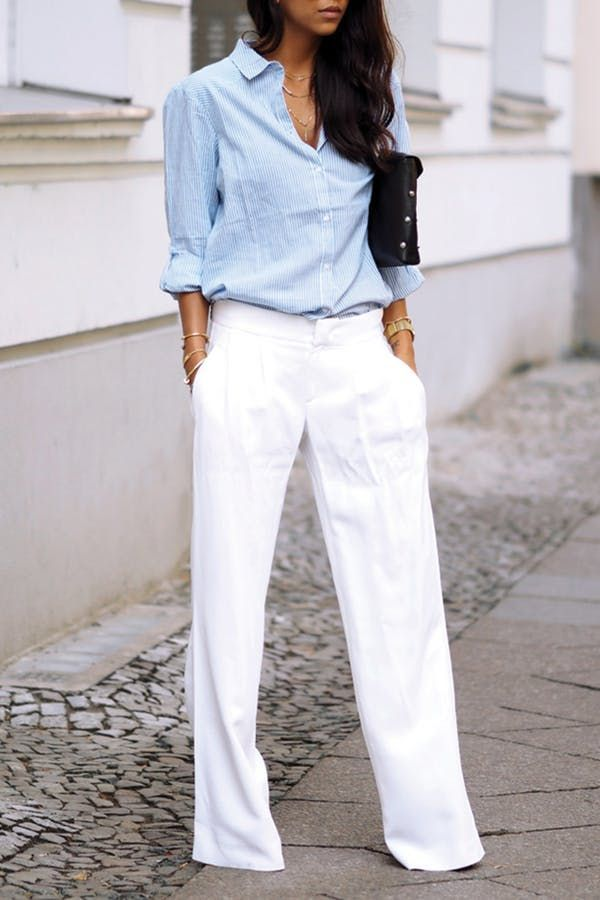 fe2d35b8986 short fashion wide leg make you look much taller. 6 Clothing Items Every  Short Lady Should Own via  PureWow