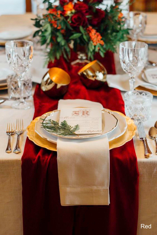 Velvet Table Runner Christmas Decorations Table Runner