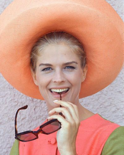 A young Candice Bergen modeling for a fashion shoot in the 70's.