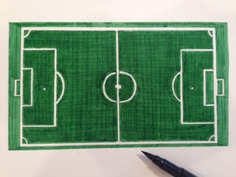 How To Draw A Soccer Field Soccer Field Neon Signs Drawings