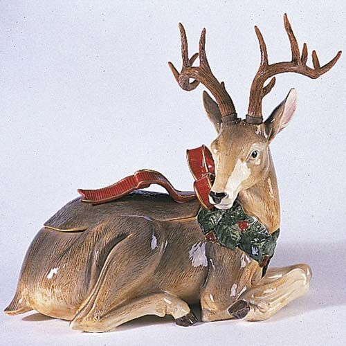 The Sunrise Shops: Fitz and Floyd Holiday Leaves Centerpiece Deer ...