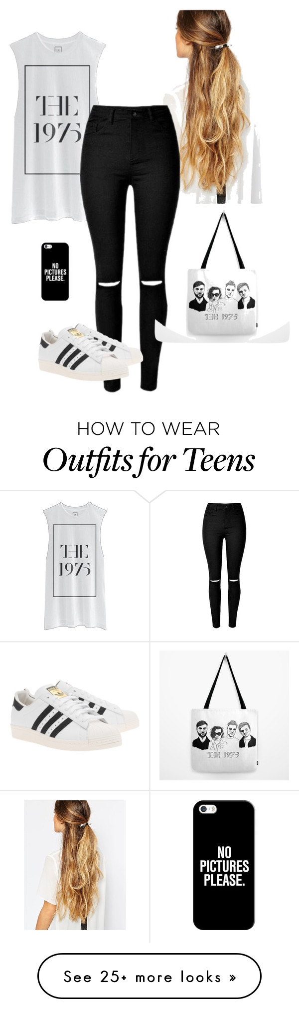 """The 1975"" by andreia-s5 on Polyvore featuring Johnny Loves Rosie, adidas Originals and Casetify"