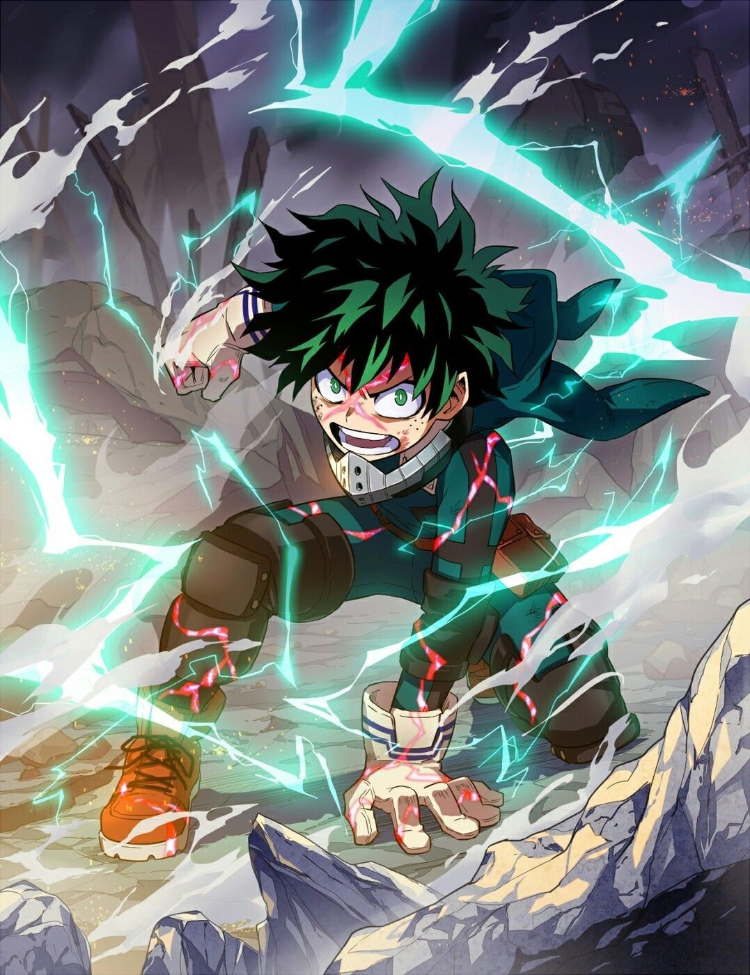 Deku Izuku Midoriya Quirk One For All Anime Anime Guys Hero Wallpaper