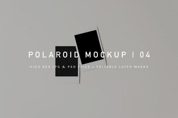 Polaroid Pile Mockup | Psd & Jpg @Creativework247 | Product