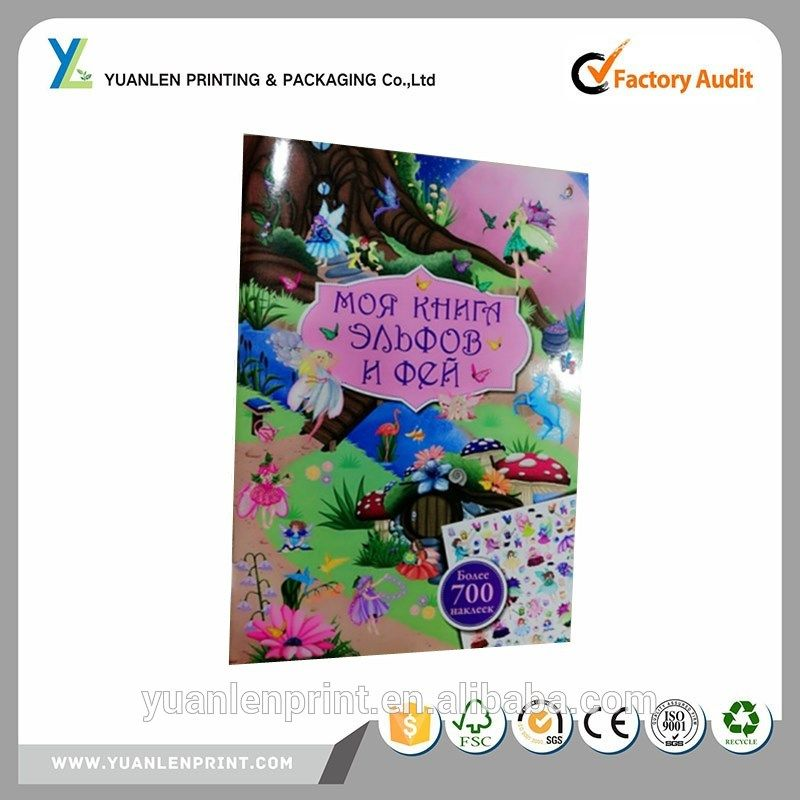 Girls sticker book printing