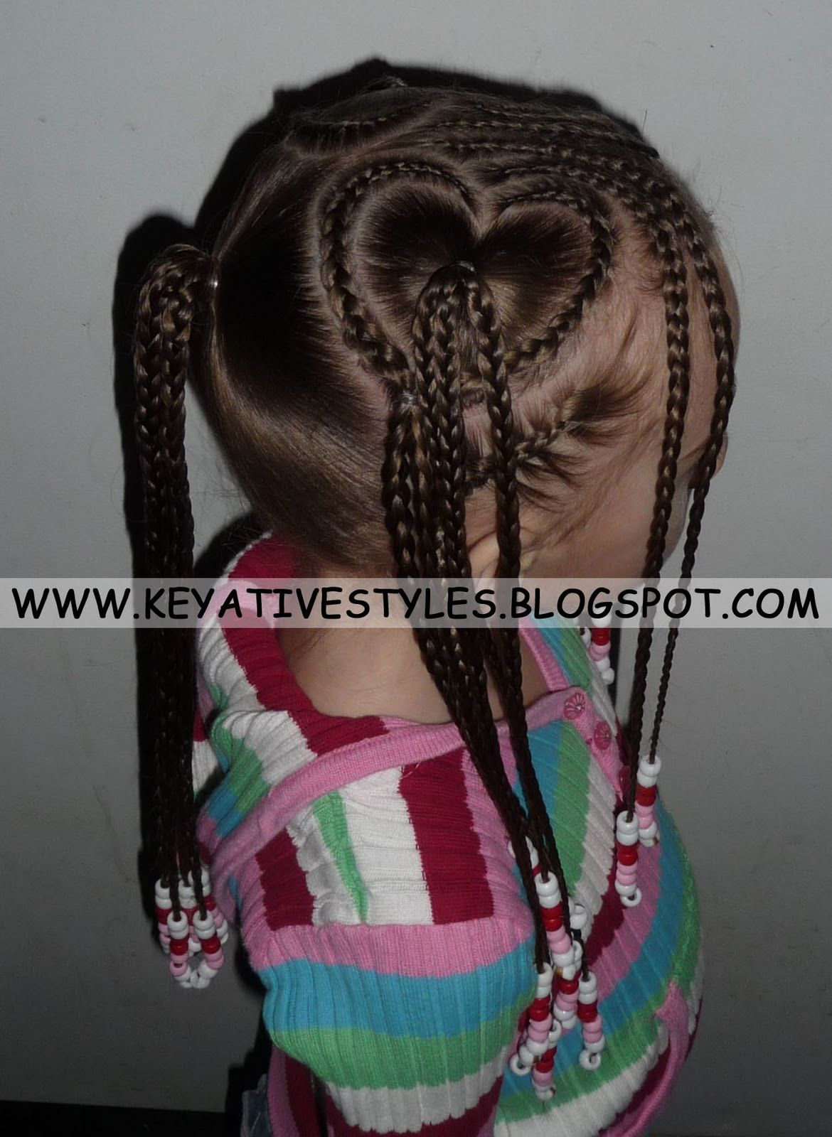 Heart Shaped Cornrows Valentines Hairstyles Black Kids