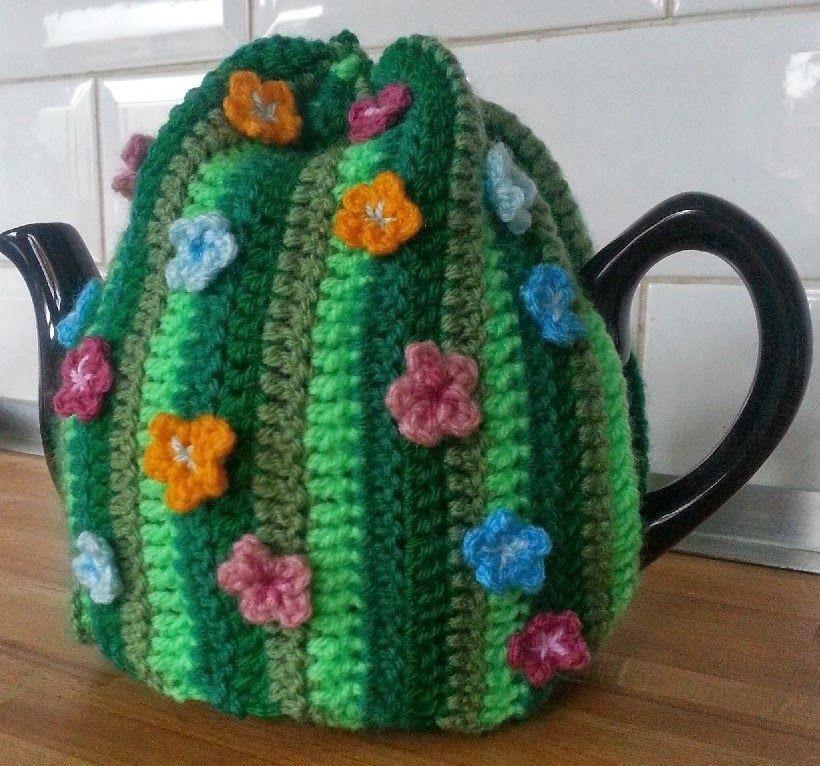 Hooking Crazy Spring Garden Tea Cosy Capa Para Bule Pinterest