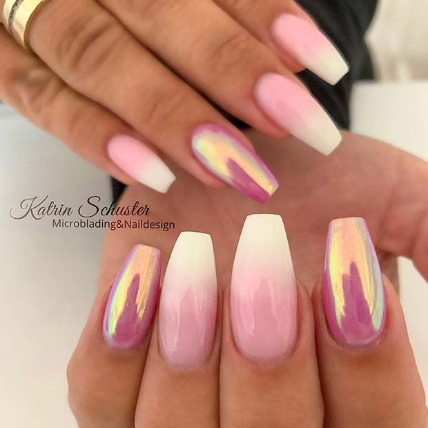 21 Elegant Baby Boomer Nail Designs You'll Love #nailsshape