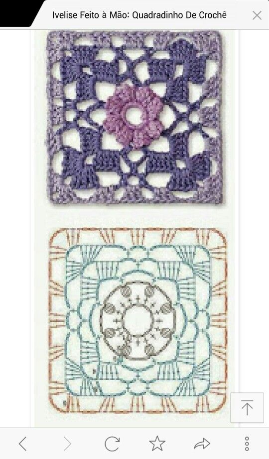 SMALL FLOWER GRANNY SQUARE | STITCHES = ALL STITCHED UP IN EVERY ...