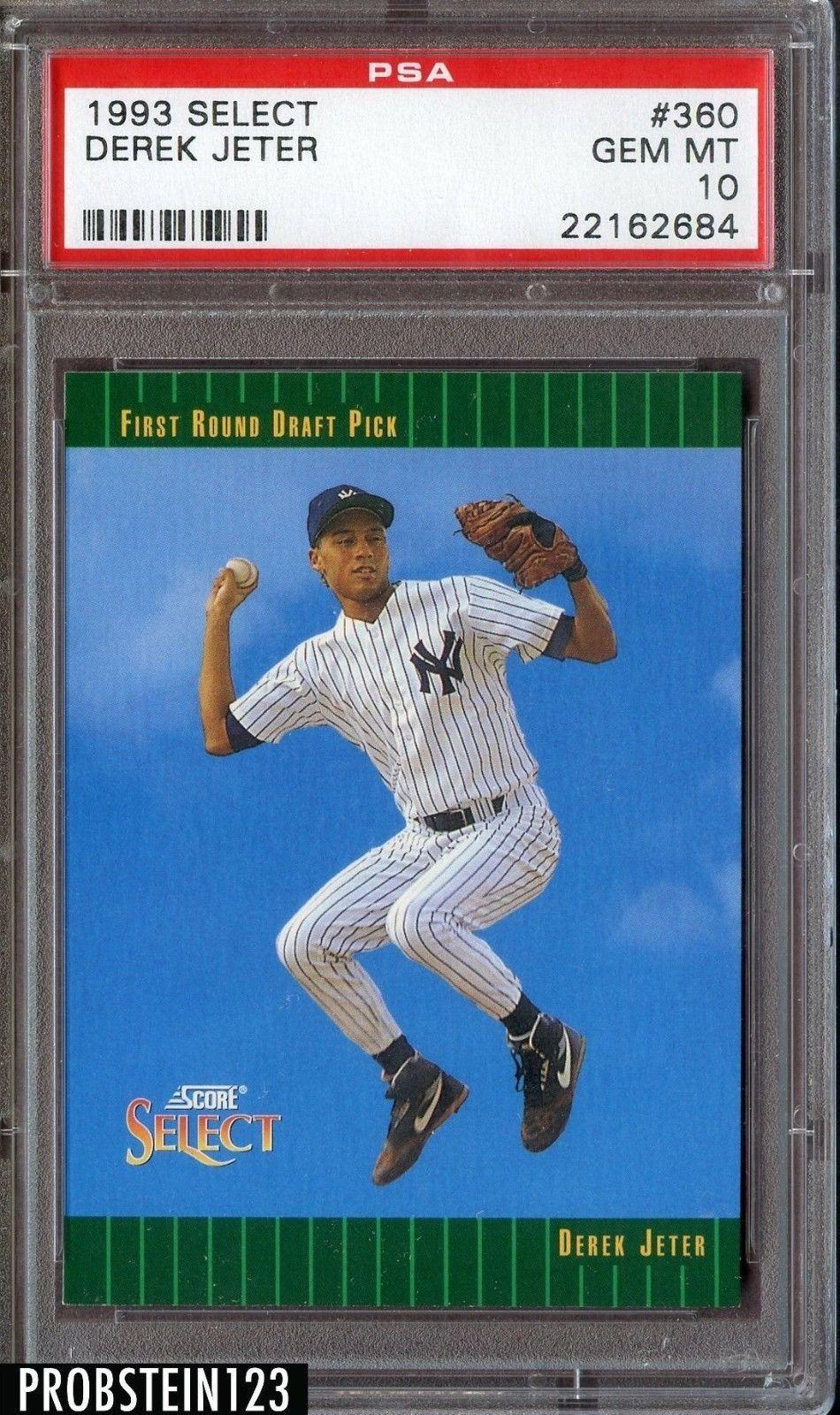 1993 select derek jeter baseball cards new york yankees