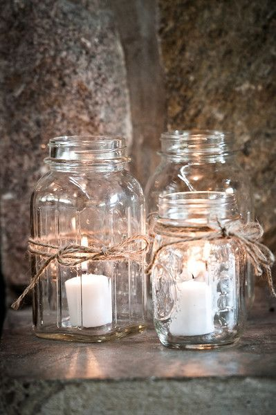 i like these candles in the mason jar instead of the tea lights