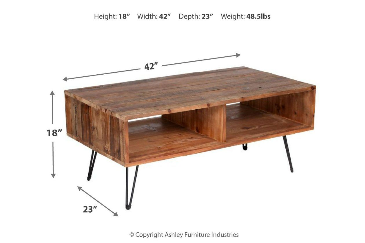 Turner Hairpin Leg Coffee Table Ashley Furniture Homestore In
