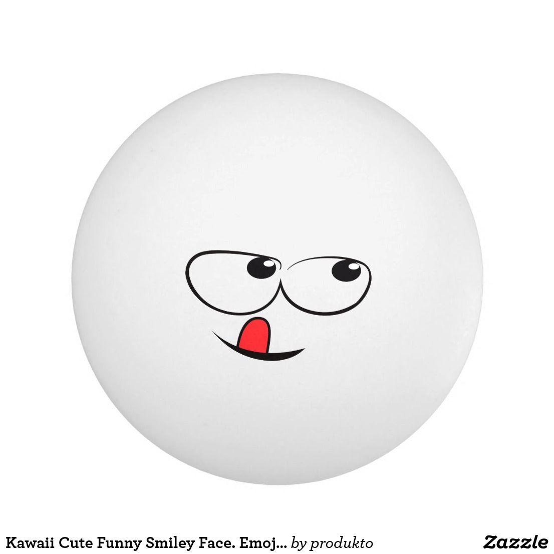 Kawaii Cute Funny Smiley Face Emoji Emoticon Ping Pong Ball Ping Pong Funny Smiley Ping Pong Table Tennis