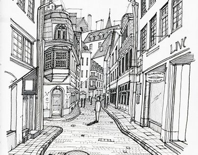 """Check out new work on my @Behance portfolio: """"The Quint Streets of Tallinn"""" http://be.net/gallery/45826549/The-Quint-Streets-of-Tallinn"""