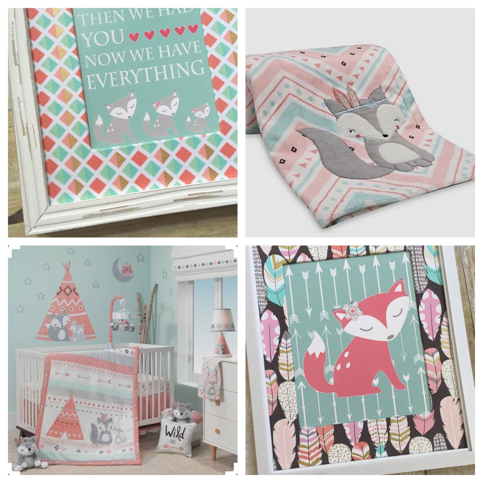 Girl Woodland Nursery Lambs & Ivy Little Spirit Girl Fox Nursery